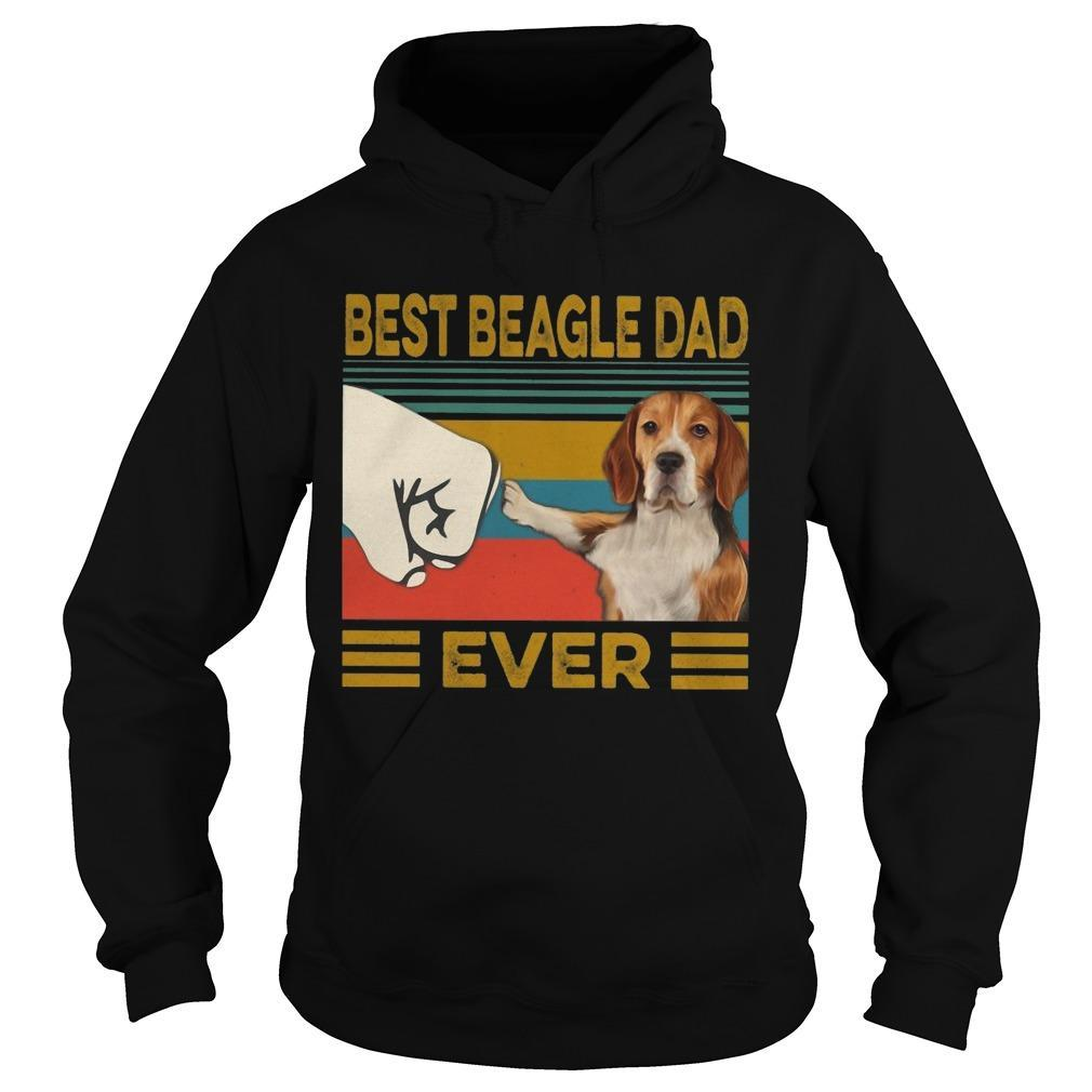 Vintage Best Beagle Dad Ever Hoodie
