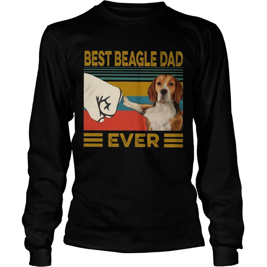 Vintage Best Beagle Dad Ever Longsleeve