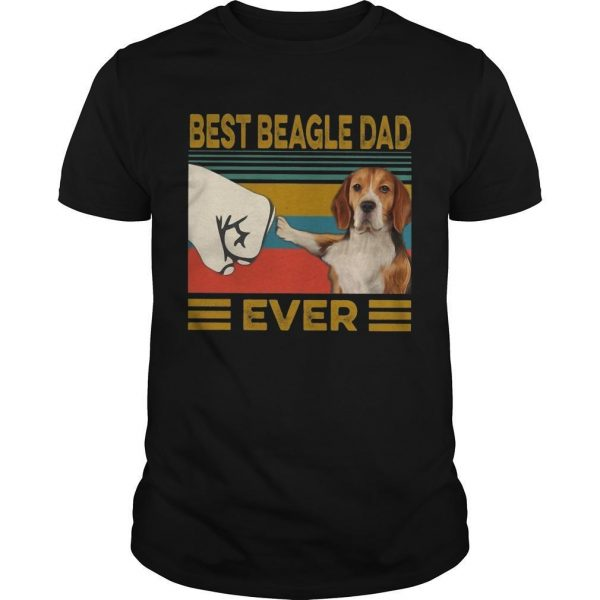 Vintage Best Beagle Dad Ever Shirt
