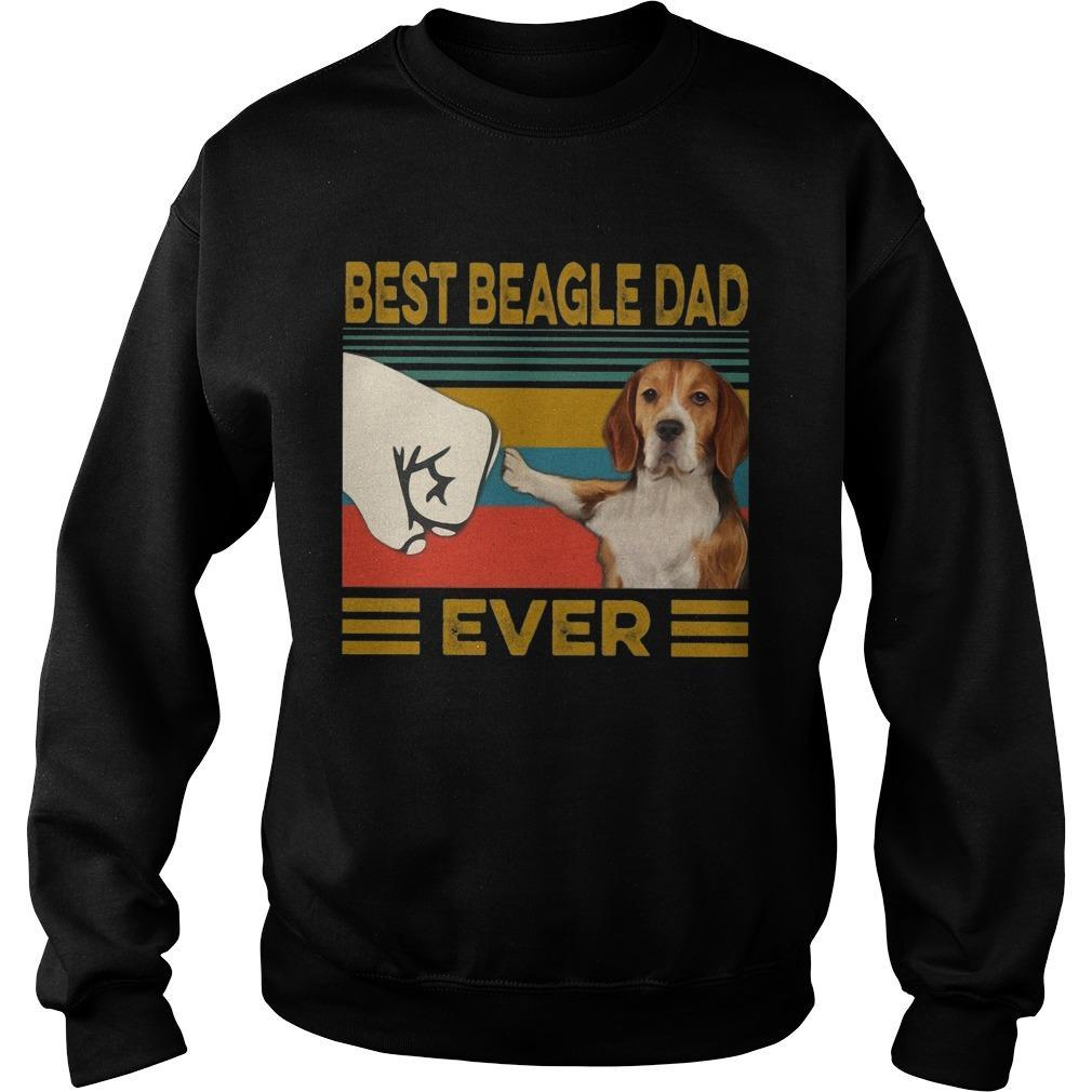 Vintage Best Beagle Dad Ever Sweater