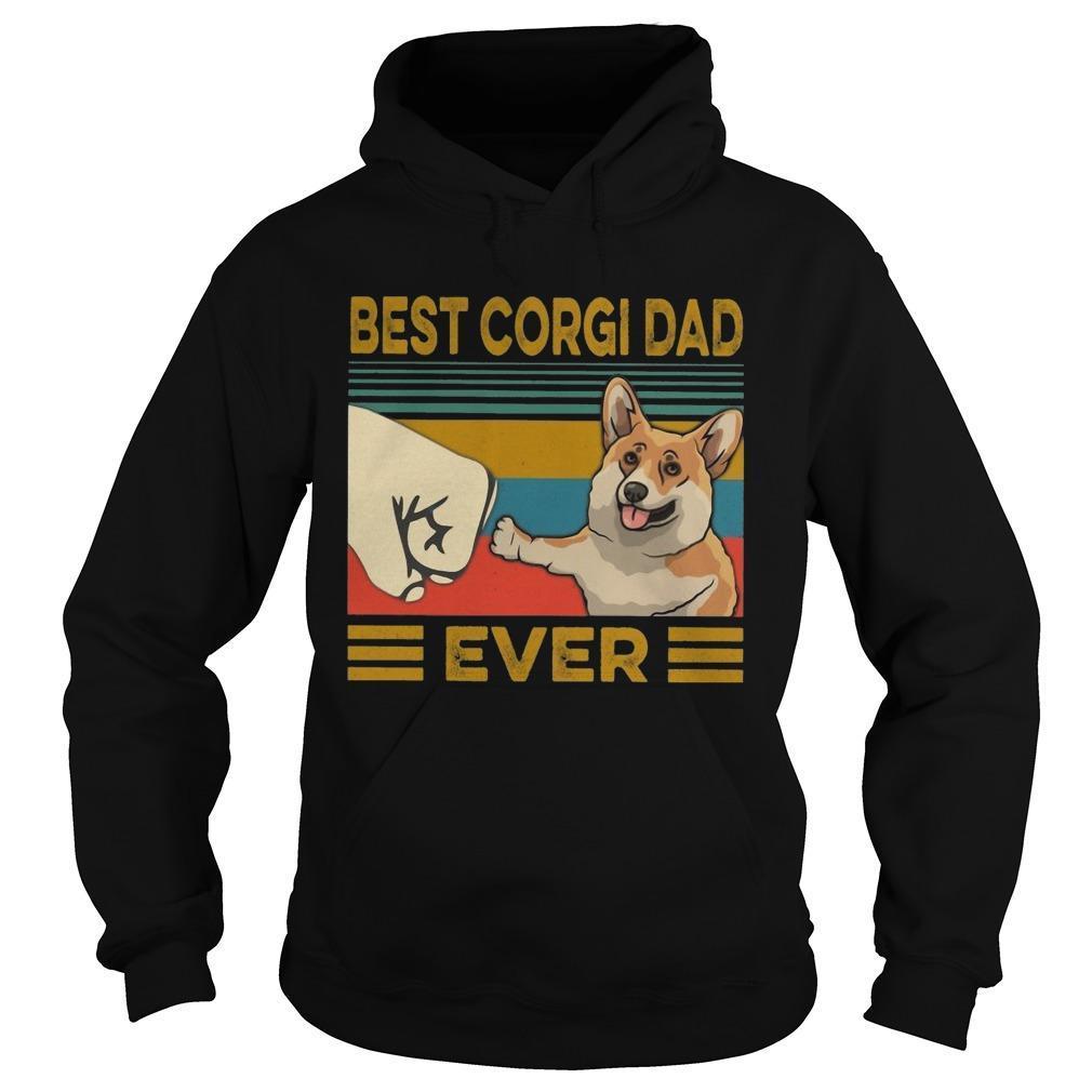 Vintage Best Corgi Dad Ever Hoodie