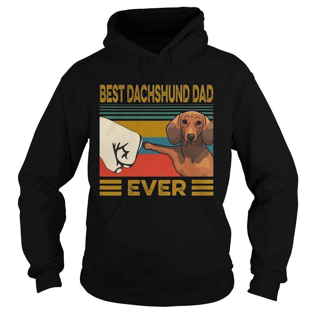 Vintage Best Dachshund Dad Ever Hoodie