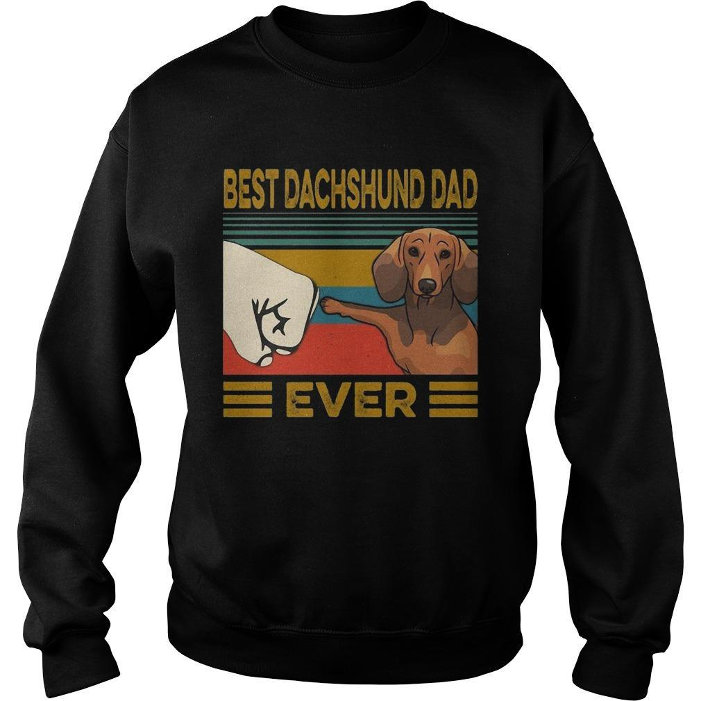 Vintage Best Dachshund Dad Ever Sweater