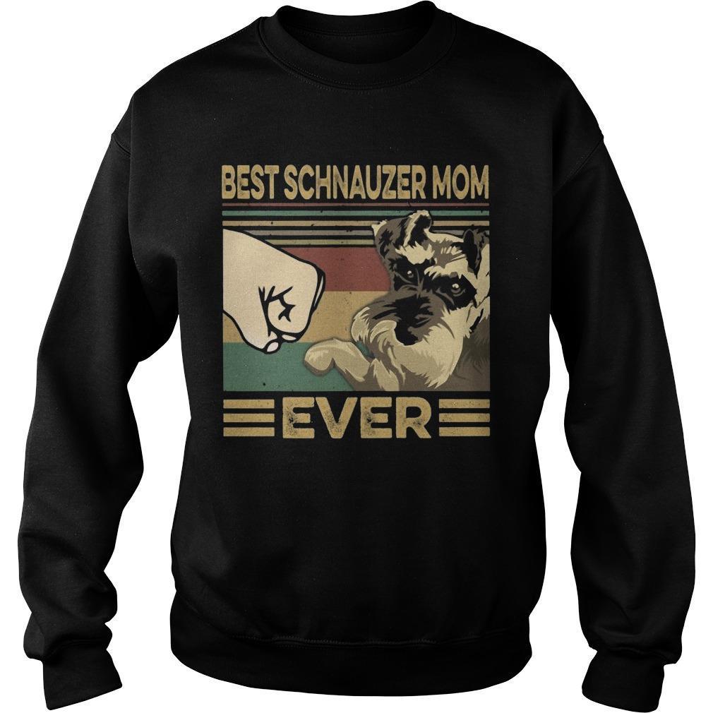 Vintage Best Schnauzer Mom Ever Sweater