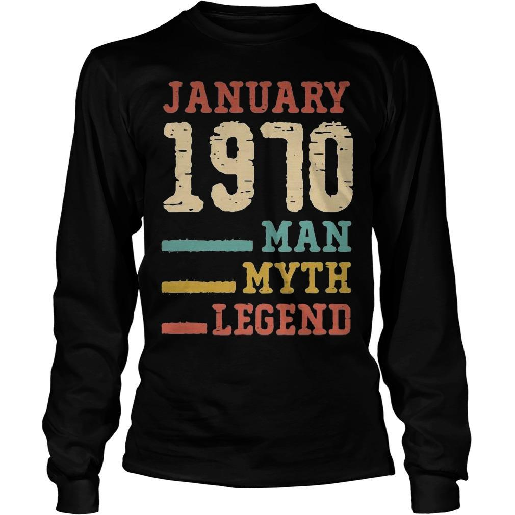 Vintage January 1970 Man Myth Legend Longsleeve