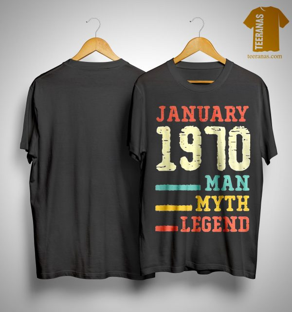 Vintage January 1970 Man Myth Legend Shirt