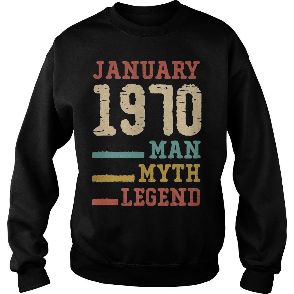 Vintage January 1970 Man Myth Legend Sweater