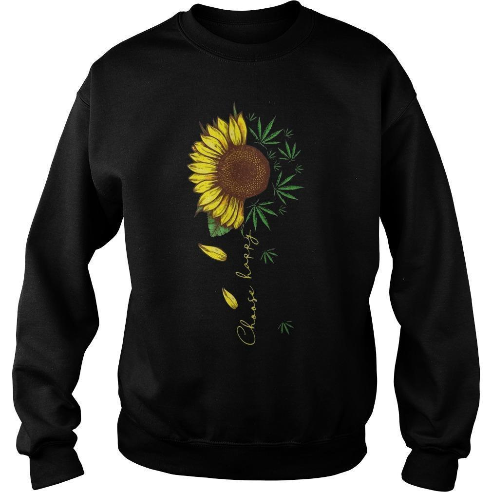 Weed And Sunflower Choose Happy Sweater