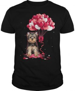 Yorkshire Terrier Love Balloons Shirt