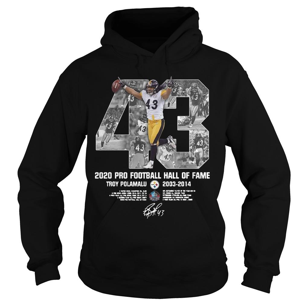 2020 Pro Football Hall Of Fame Troy Polamalu Hoodie