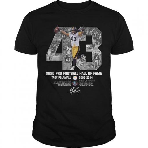 2020 Pro Football Hall Of Fame Troy Polamalu Shirt