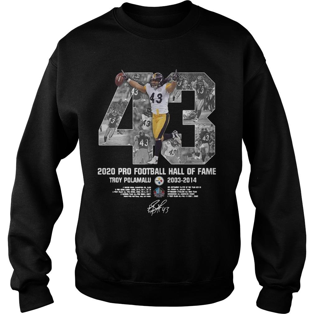 2020 Pro Football Hall Of Fame Troy Polamalu Sweater