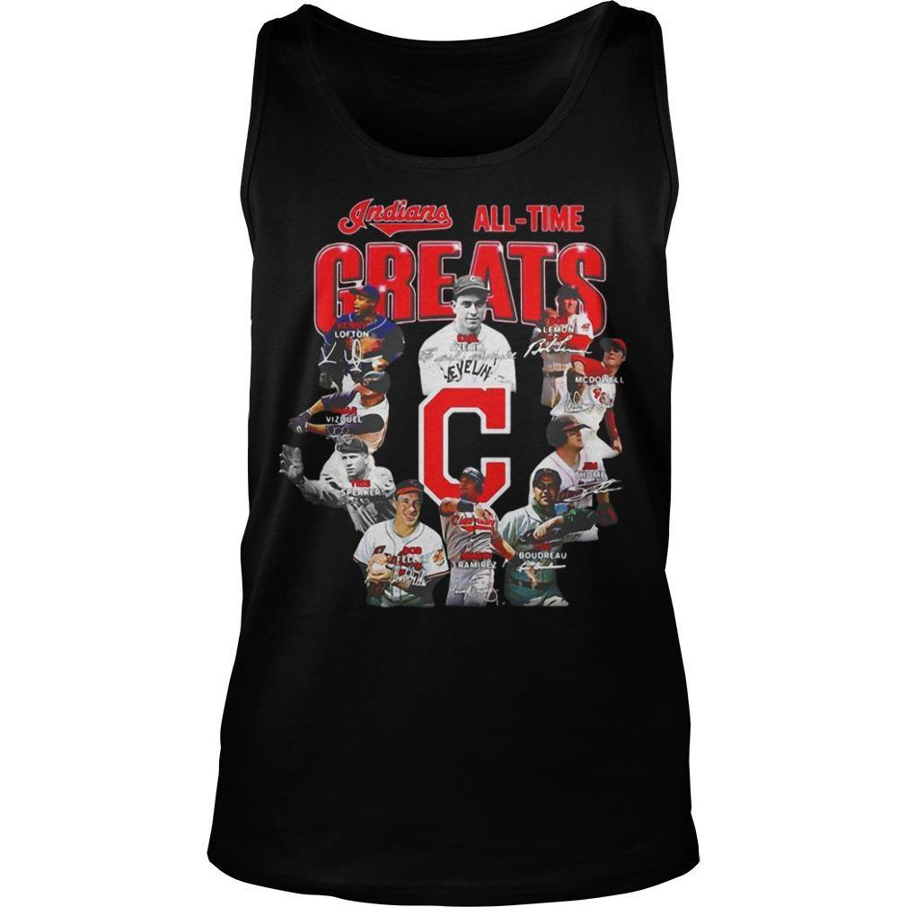 All Time Greats Signature Cleveland Indians T Tank Top