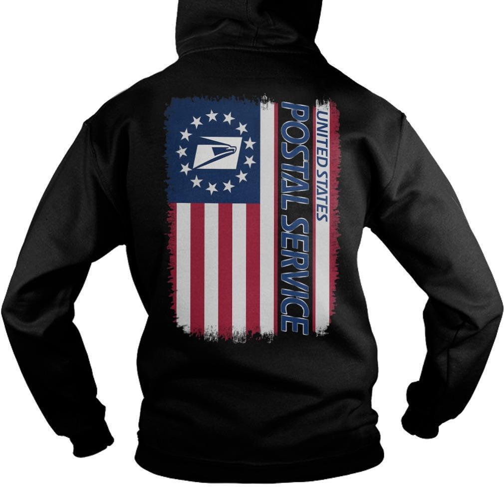 American Flag United States Postal Service Hoodie