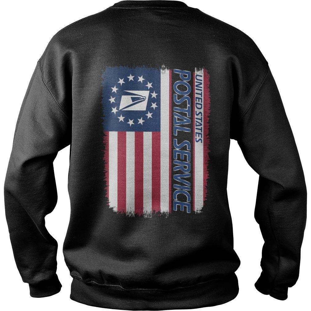 American Flag United States Postal Service Sweater