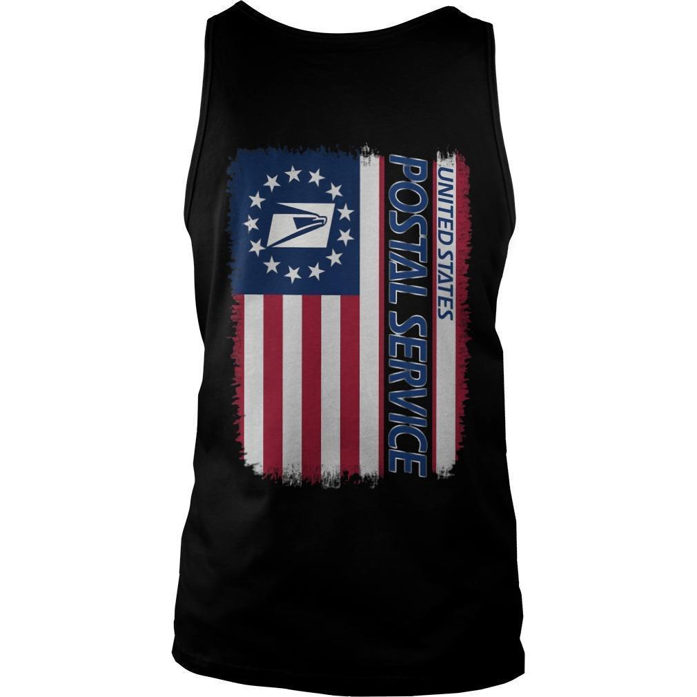 American Flag United States Postal Service Tank Top