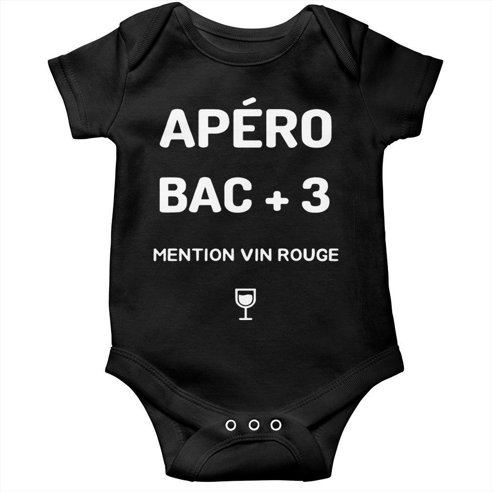 Apéro Bac +3 Mention Vin Rouge Longsleeve