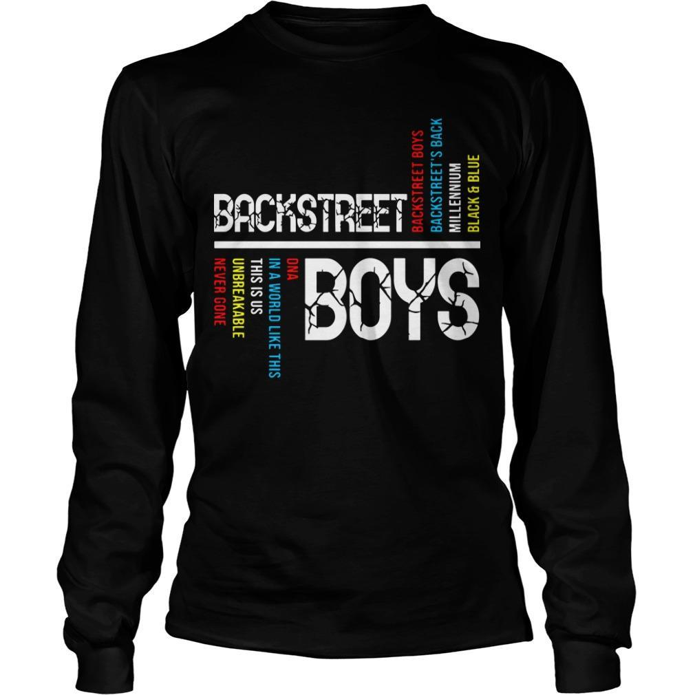 Backstreet Boys Backstreet's Back Millennium Black And Blue Longsleeve