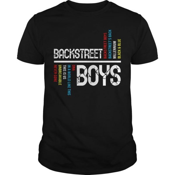 Backstreet Boys Backstreet's Back Millennium Black And Blue Shirt