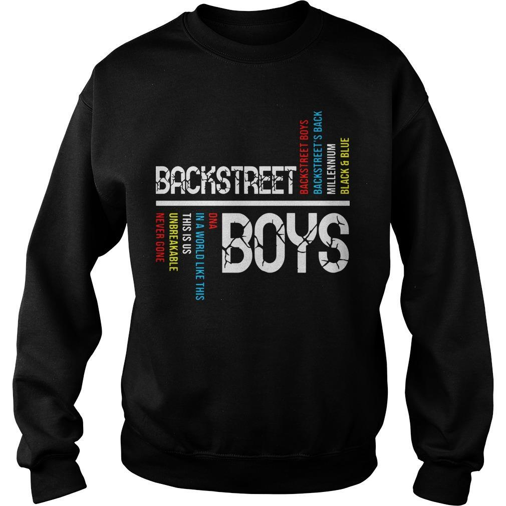 Backstreet Boys Backstreet's Back Millennium Black And Blue Sweater