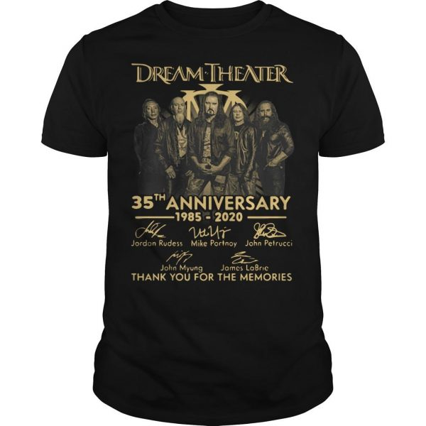 Dream Theater 35th Anniversary Thank You For The Memories Shirt