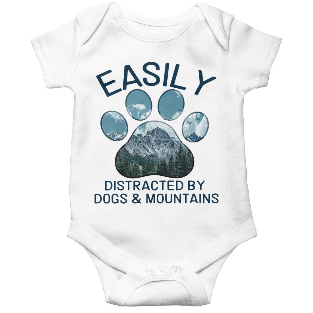 Easily Distracted By Dogs And Mountains Longsleeve