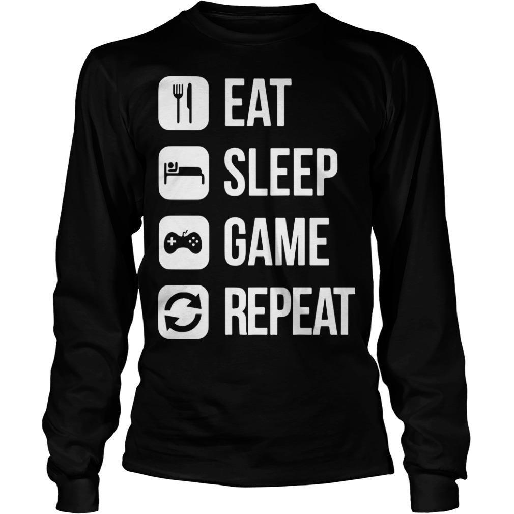 Eat Sleep Game Repeat Longsleeve