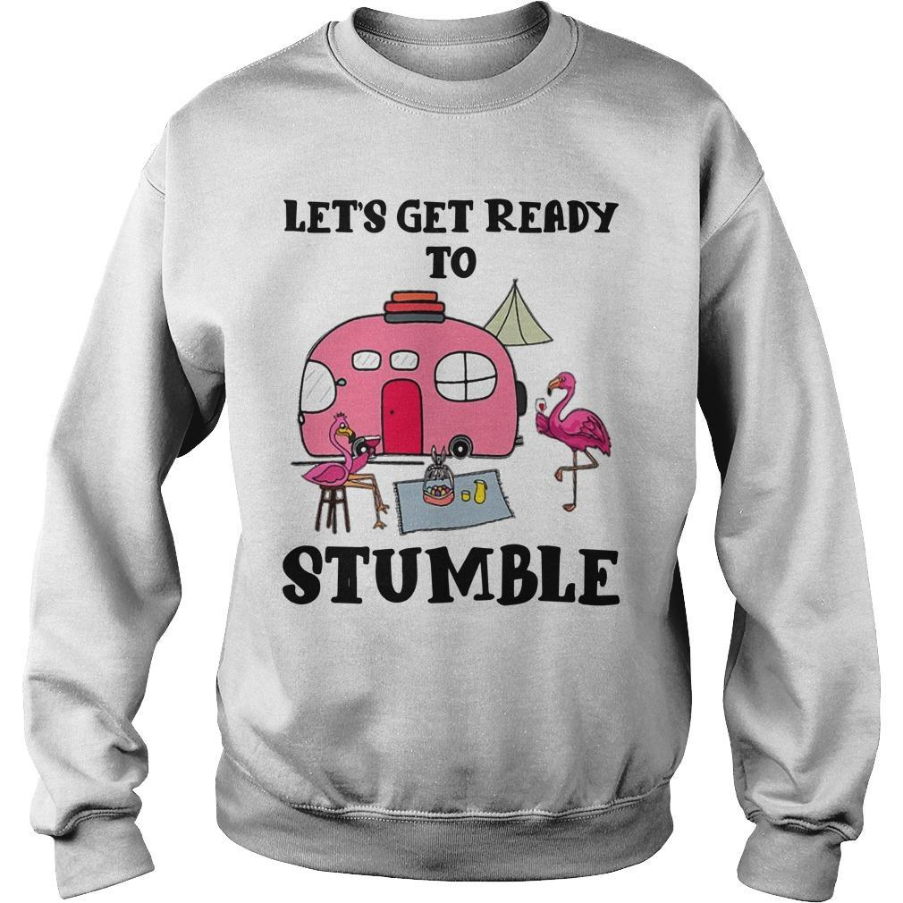 Flamingo Camping Let's Get Ready To Stumble Sweater
