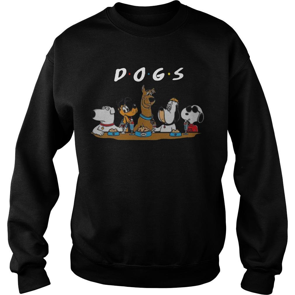 Friends Cartoon Tv Series Party Dogs Sweater