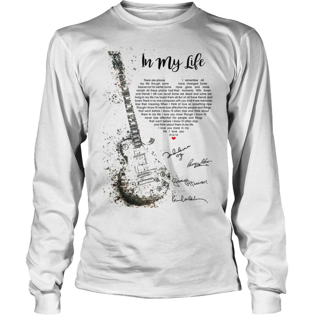 Guitar Signatures In My Life Longsleeve