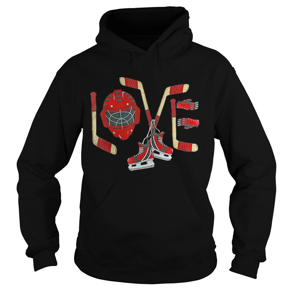 Ice Hockey Valentines Day Love Hoodie