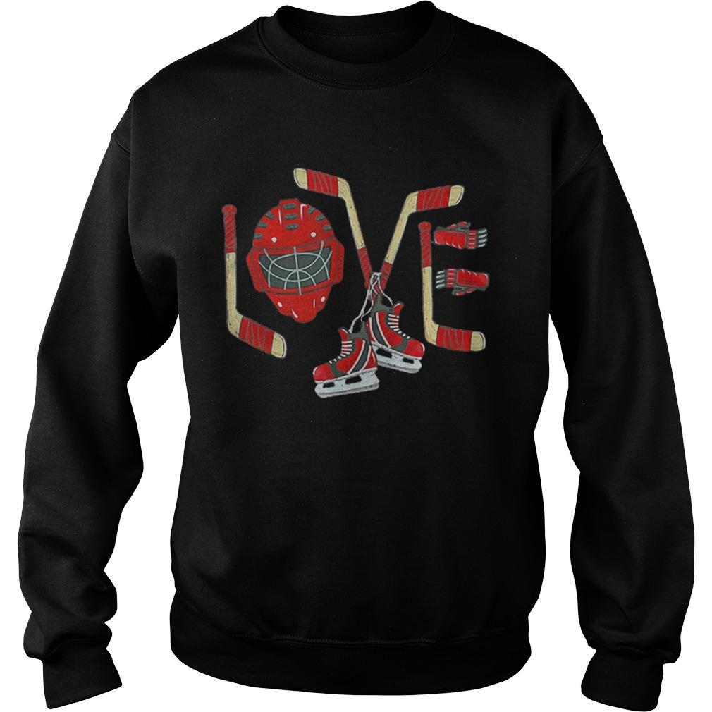 Ice Hockey Valentines Day Love Sweater