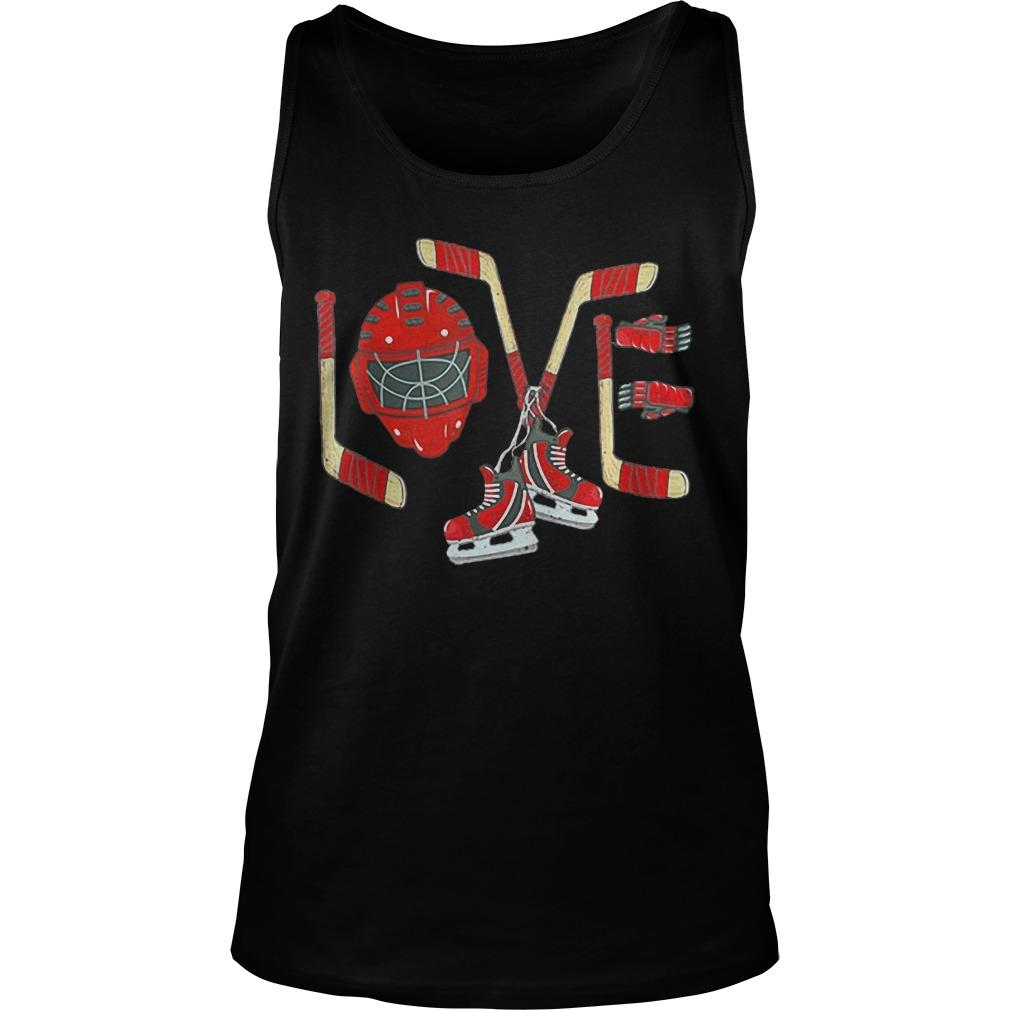 Ice Hockey Valentines Day Love Tank Top