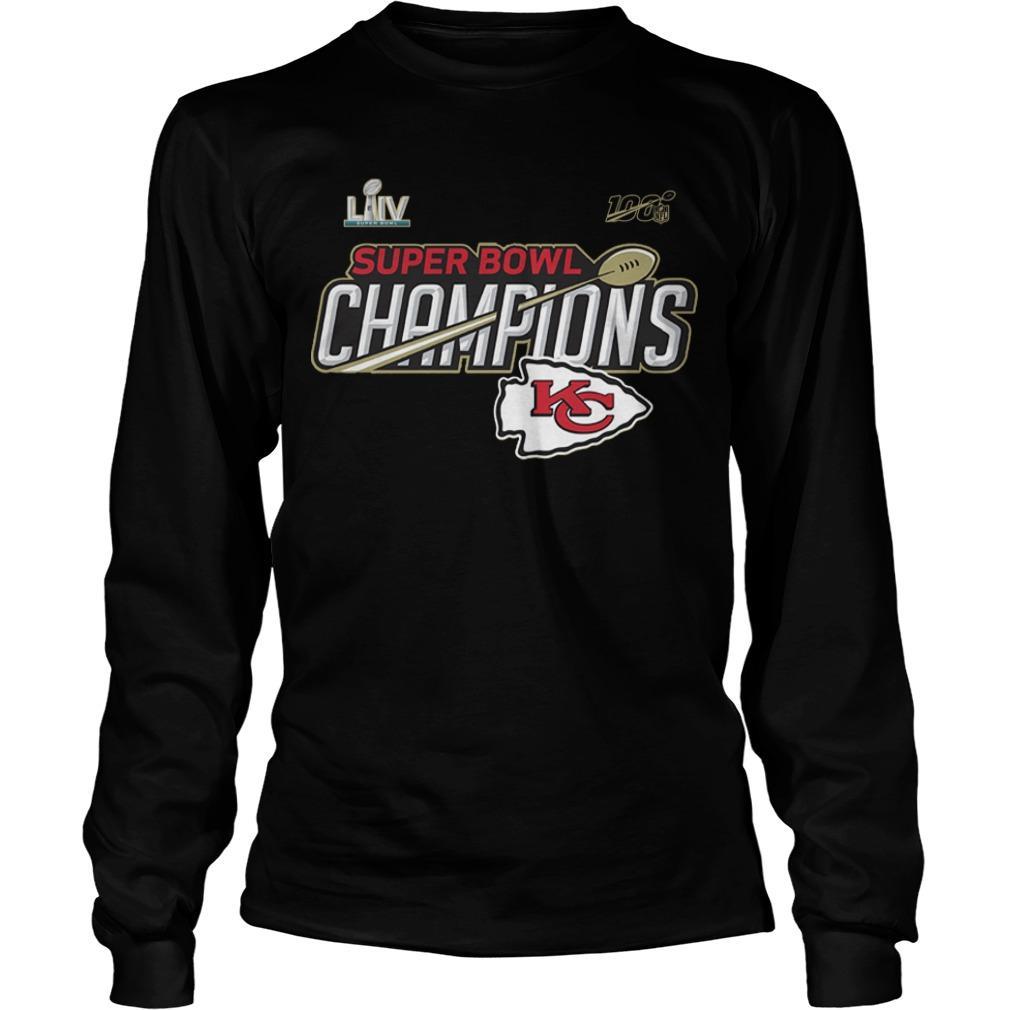Kansas City Chiefs Super Bowl LIV Champions Trophy Longsleeve