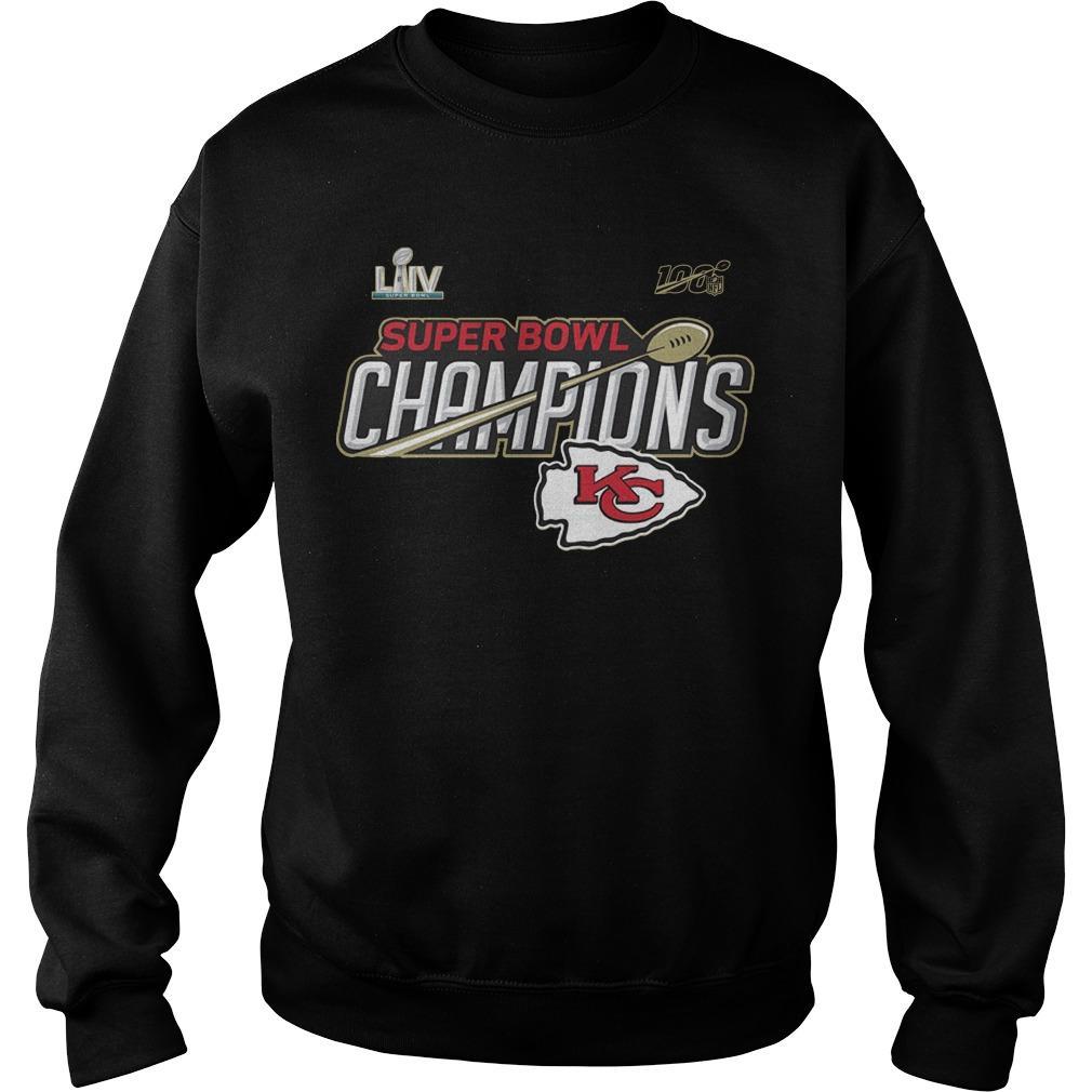 Kansas City Chiefs Super Bowl LIV Champions Trophy Sweater