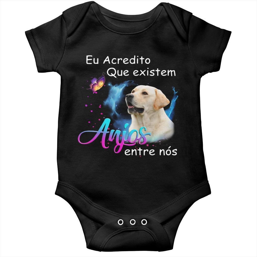 Labrador Eu Acredito Que Existem Anjos Entre Nós Longsleeve