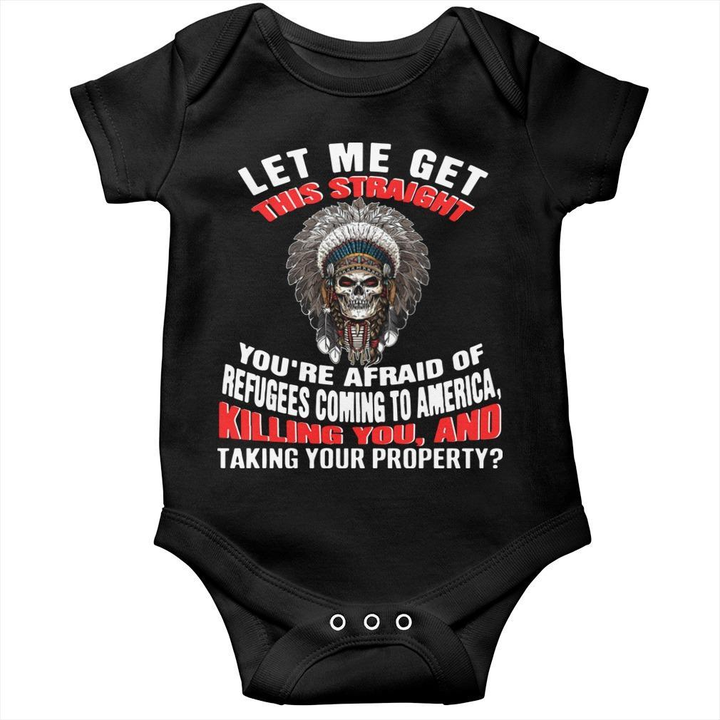 Let Me Get This Straught You're Afraid Of Refugees Coming To America Longsleeve