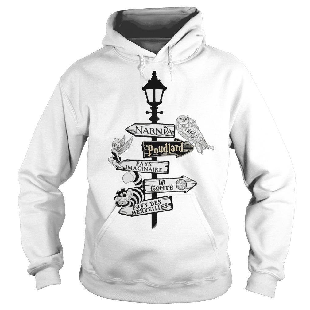 Narnia Poudlard Pays Imaginable La Gomme Pays Des Merveilles Hoodie