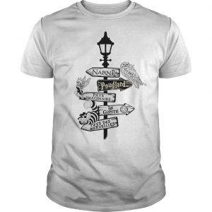 Narnia Poudlard Pays Imaginable La Gomme Pays Des Merveilles Shirt