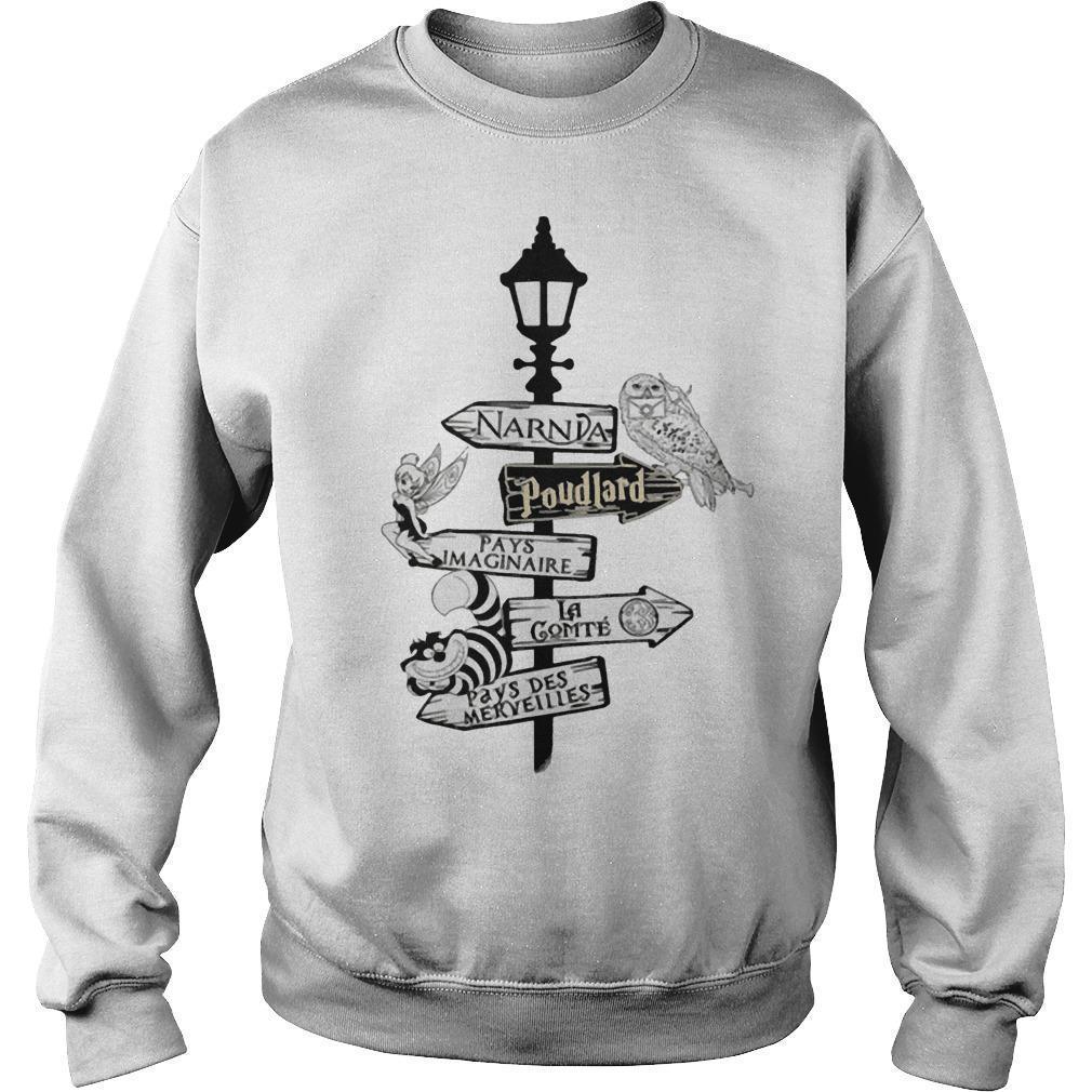 Narnia Poudlard Pays Imaginable La Gomme Pays Des Merveilles Sweater