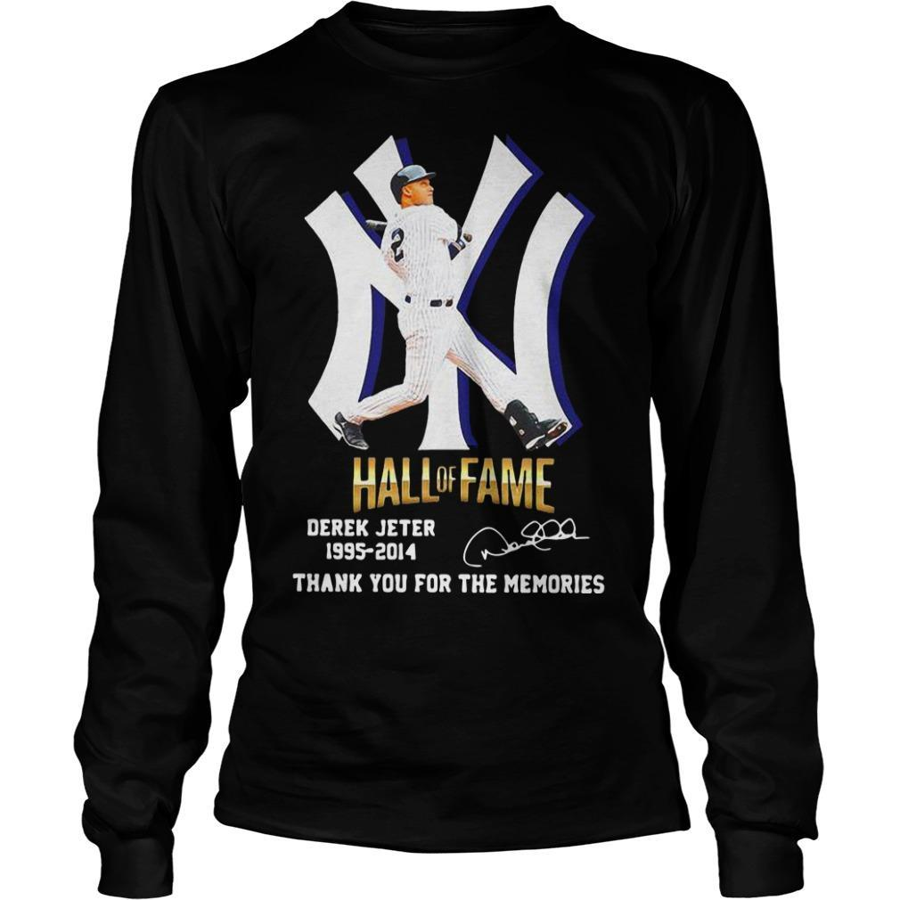 New York Yankees Hall Of Fame Derek Jeter 1995 2014 Thank You For The Memories Longsleeve