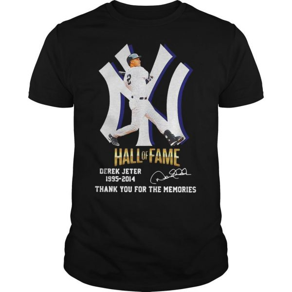 New York Yankees Hall Of Fame Derek Jeter 1995 2014 Thank You For The Memories Shirt