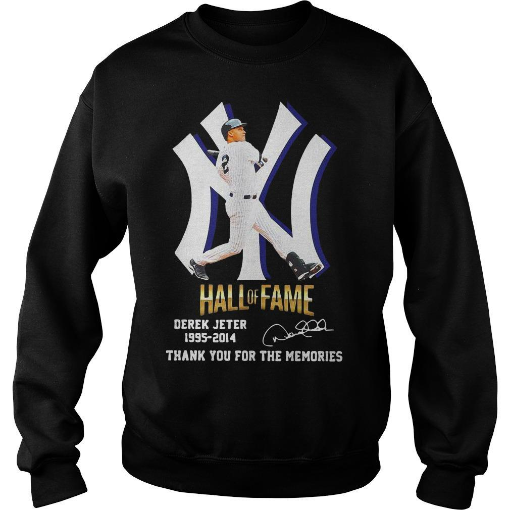 New York Yankees Hall Of Fame Derek Jeter 1995 2014 Thank You For The Memories Sweater
