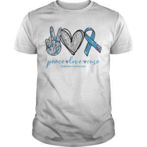 Peace Love And Cure Diabetes Awareness Shirt