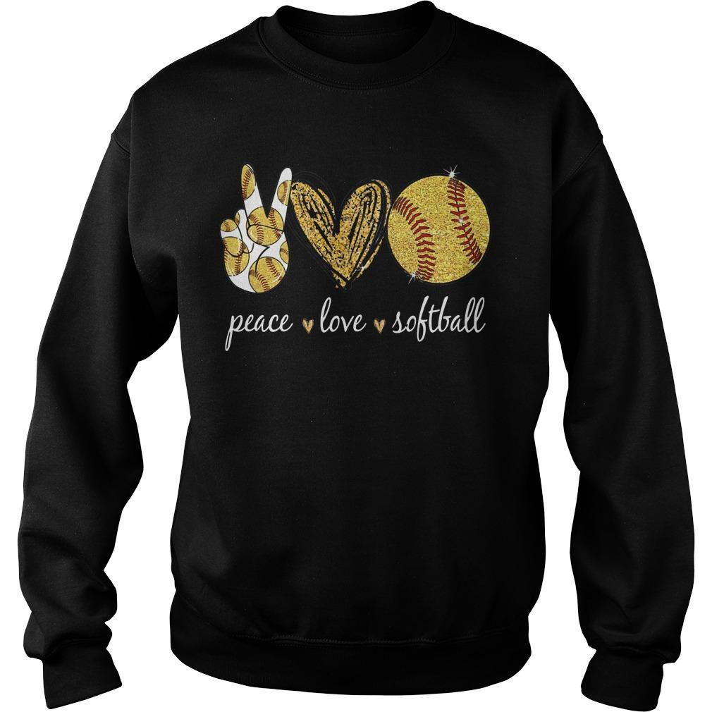 Peace Love Softball Sweater