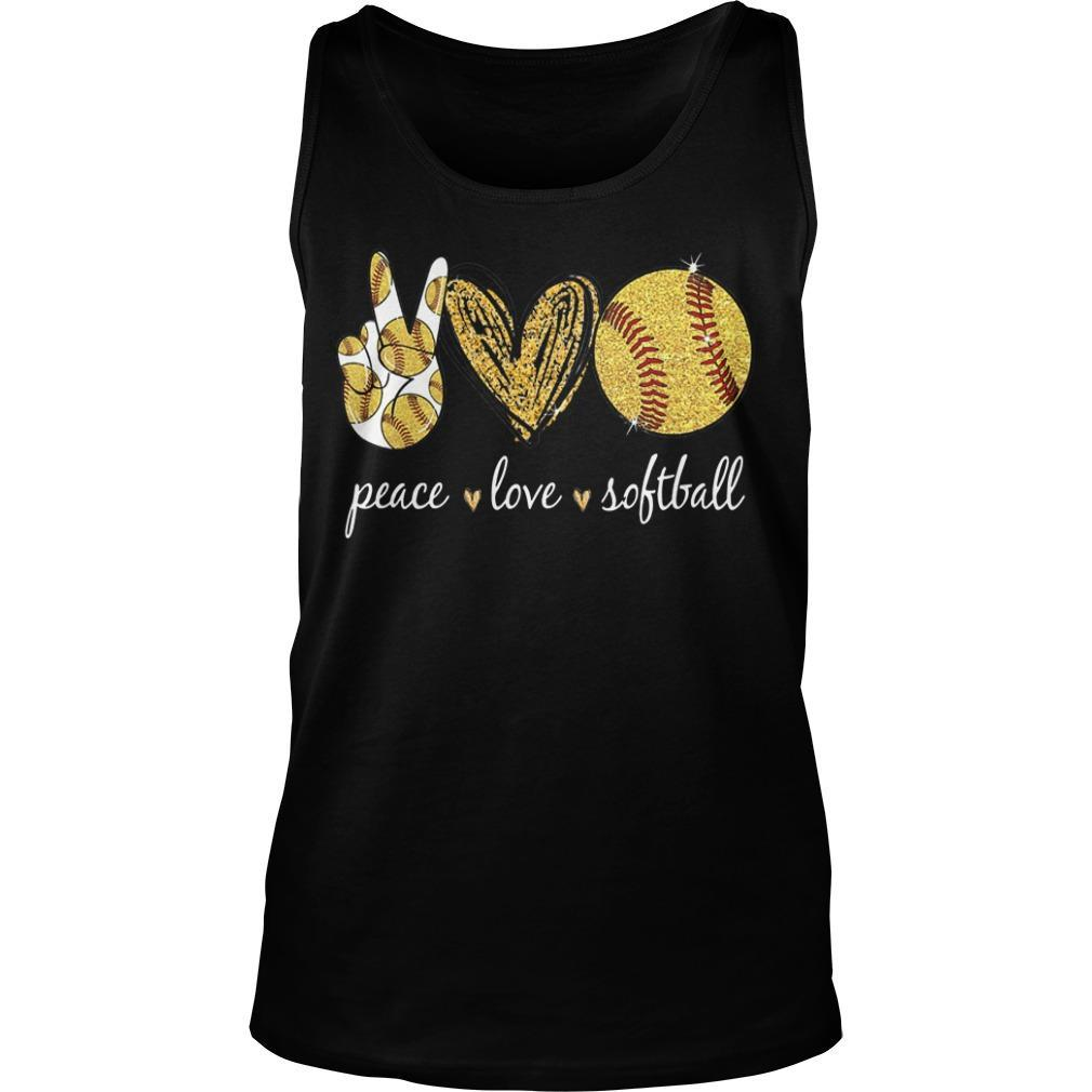 Peace Love Softball Tank Top