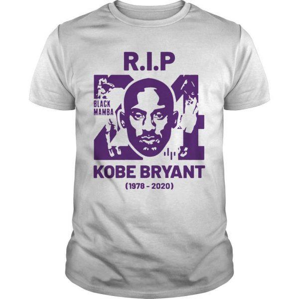 Rip Kobe Bryant 24 Black Mamba 1978 2020 Shirt
