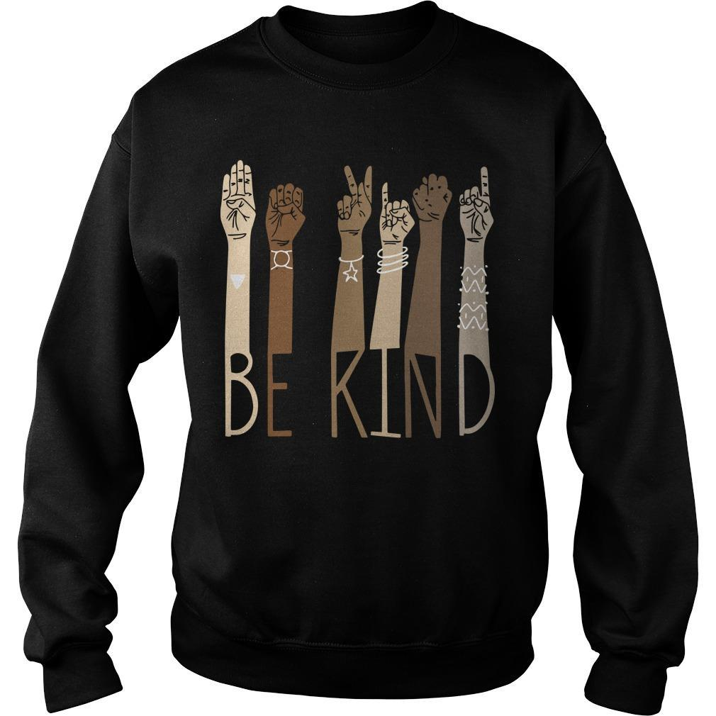 Sign Language Be Kind Sweater