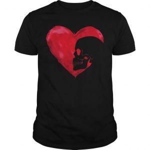 Skull Red Heart Shirt