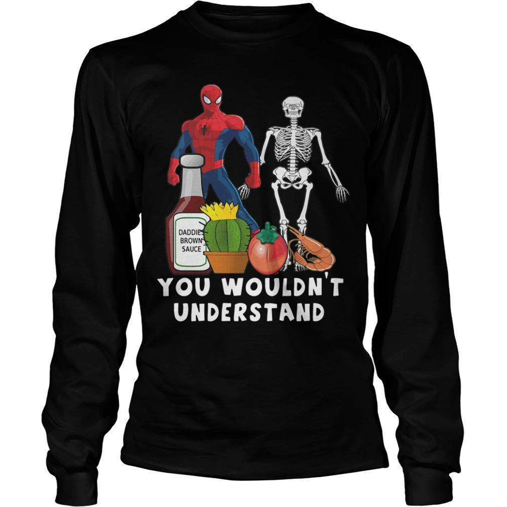 Spider Man And Skellington You Wouldn't Understand Longsleeve